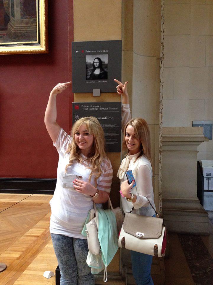 At the Mona Lisa