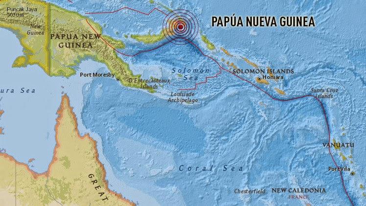 ALERTA DE TSUNAMI TRAS TERREMOTO DE 7,7 GRADOS EN PAPUA NUEVA GUINEA