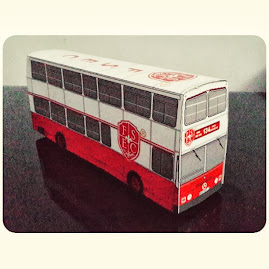 Papercraft Bus Fun & Smart Education Center