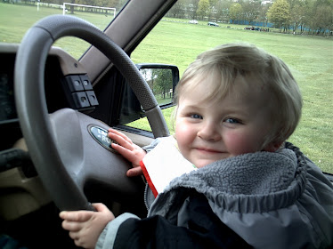 Edward Trying to Drive Daddy's Car