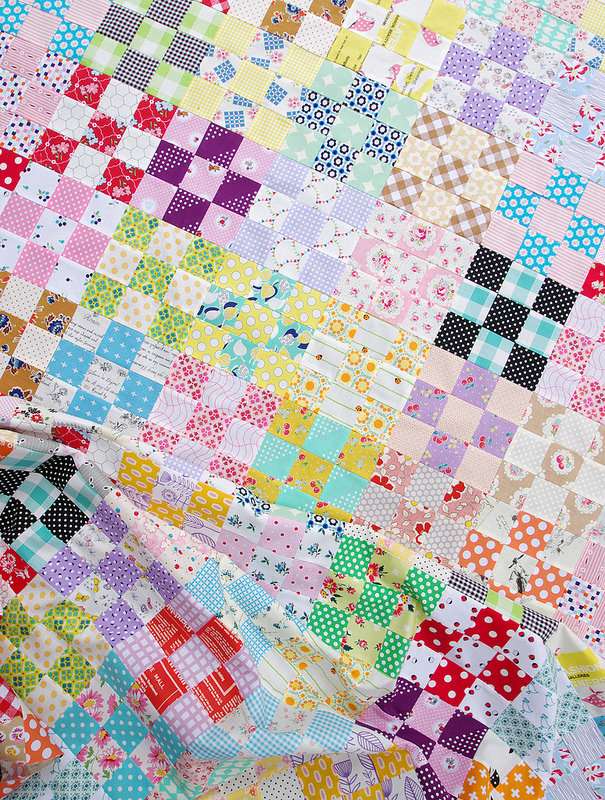 Nine Patch Checkerboard Quilt Tutorial