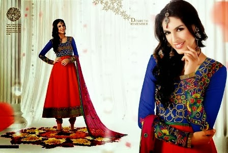 Blue-&-Red-Anarkali-Dress