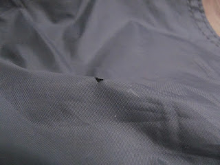 Puncture in Tent Flysheet