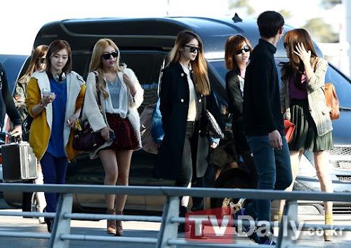 Foto Keberangkatan T-ara Menuju Thailand 14 Maret 2013
