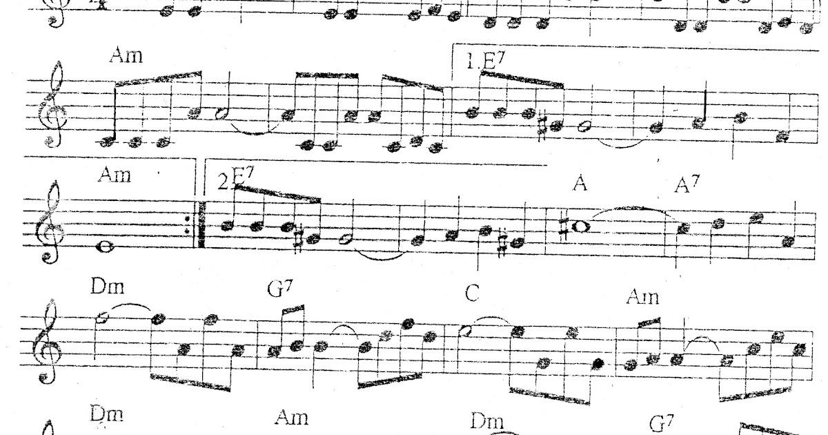 Guitarra clasica y ayacuchana partitura de historia de amor for Partituras guitarra clasica