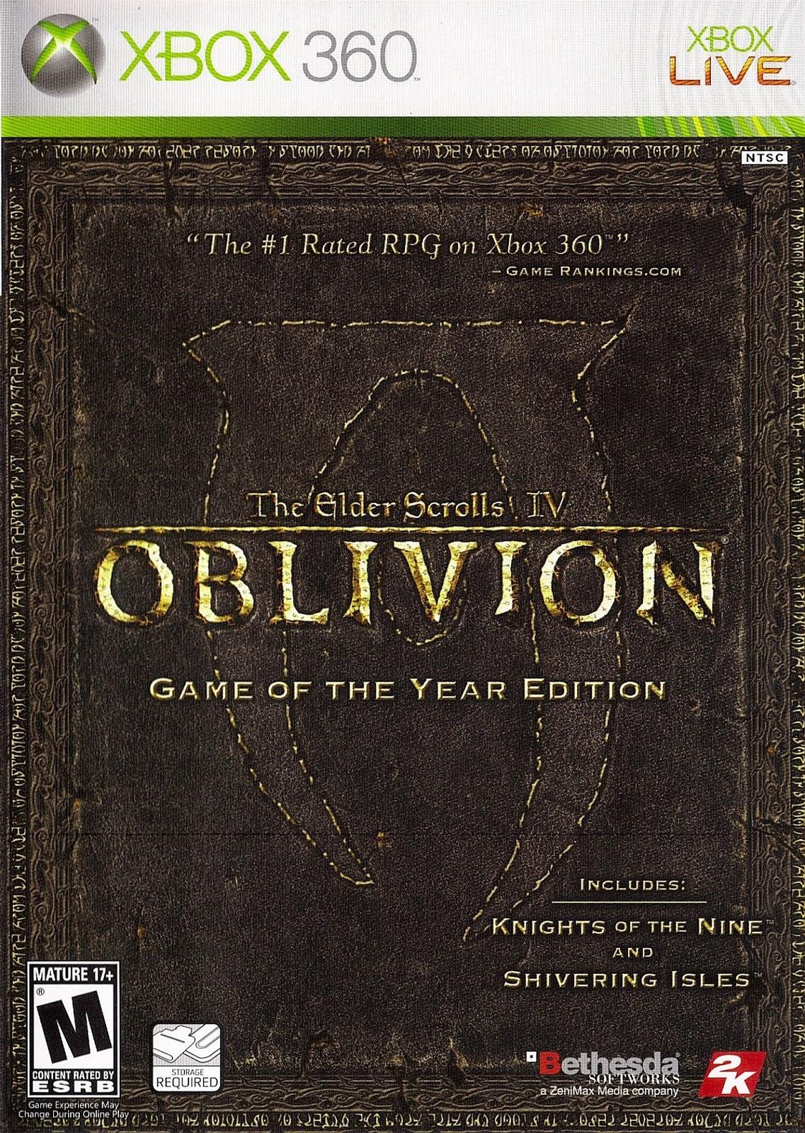 The Elder Scrolls IV Oblivion Game Of The Year Edition XBOX 360 ESPAÑOL
