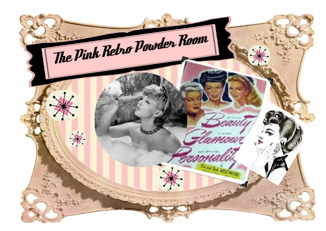 The Pink Retro Powder Room