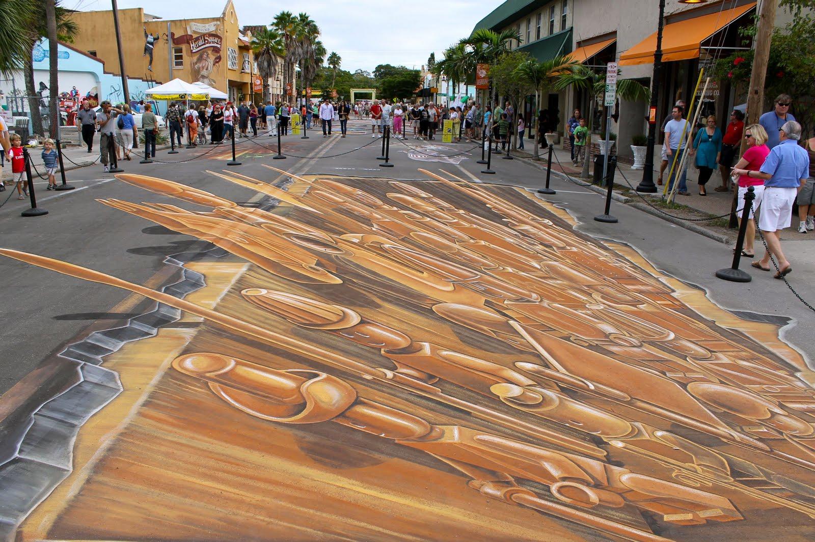 3d Street Art Terracotta Lego Army Ruben Poncia