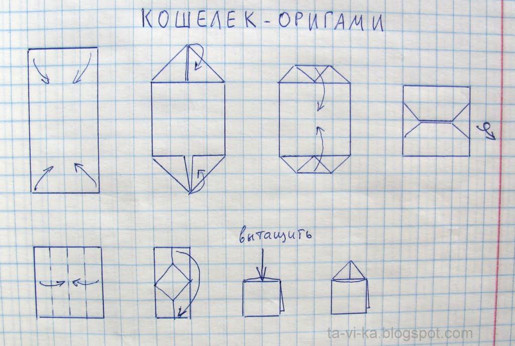 оригами. кошелек