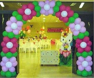 Decoracion de Fiestas Infantiles con Flores, Salones, parte 1