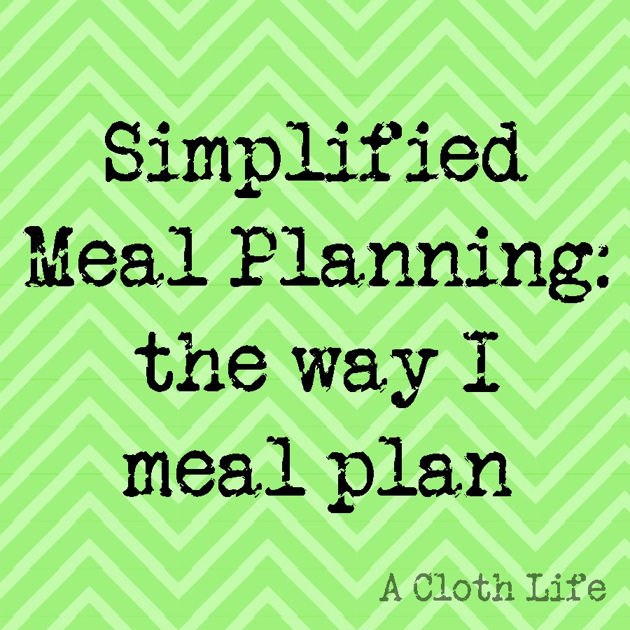 simplified meal planning