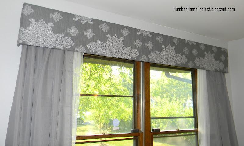 DIY Upholstered Window Cornice