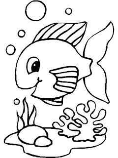 Desenhos Para Colori Peixinhos legais desenhar