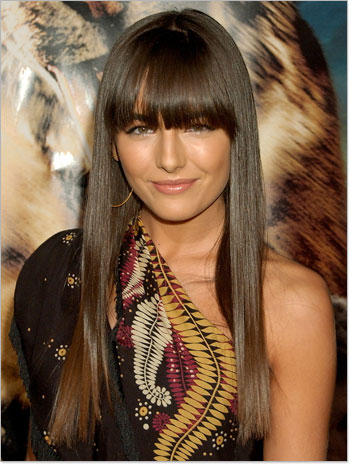 celebs with bangs. Celebrities are blessed with