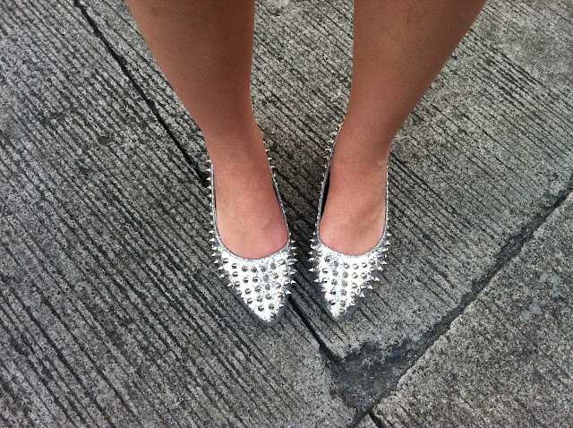 Silver Studded Flats from Hong Kong