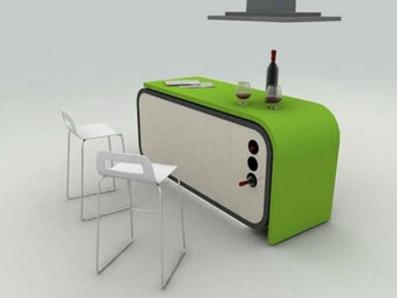 Cocina modular muebles para un apartamento peque o for Modelar muebles