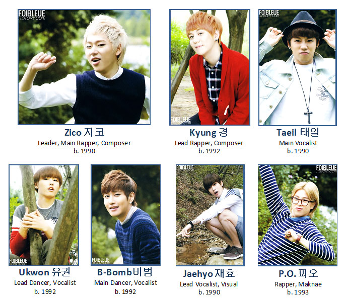 Block B Members 2013 all the Block B members