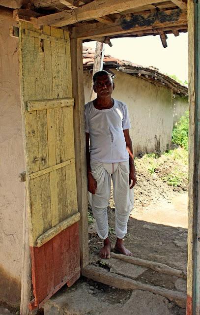 old man in dhoti