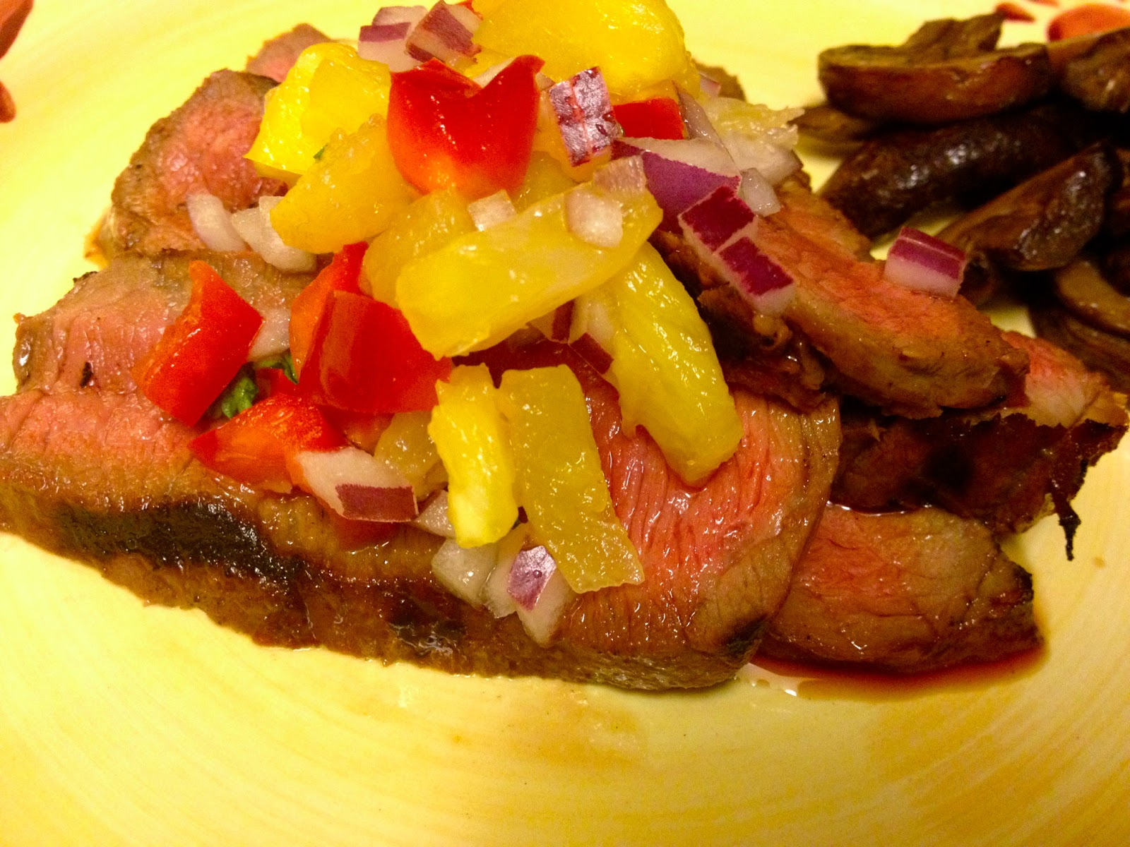 Grilled Steak with Pineapple Salsa