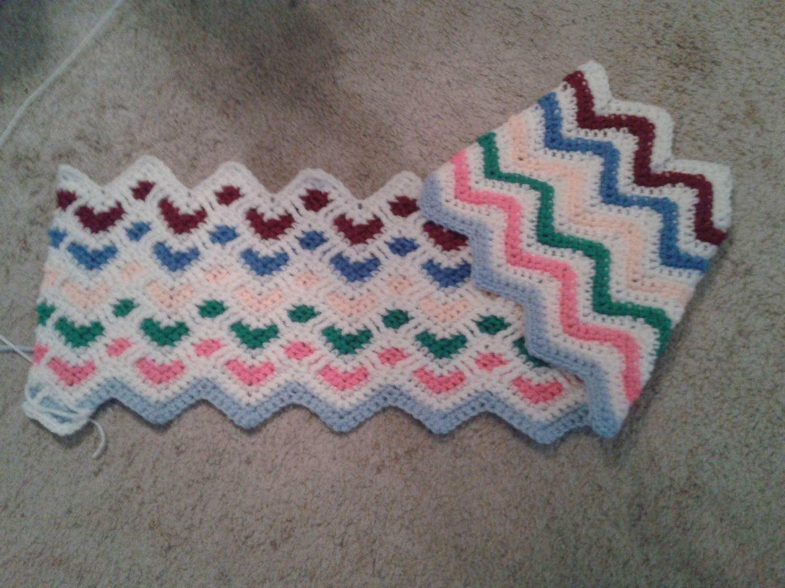 Crochet sweetheart ripple afghan free pattern manet for coffee n crafts scrap sweetheart ripple crochet sweetheart ripple afghan free pattern bankloansurffo Images