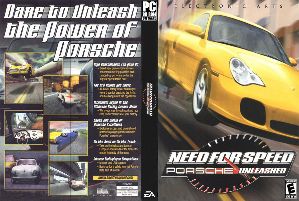 Jogo Need for Speed Porsche Unleashed PC DVD Capa