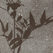 ART made with SILHOUETTE OF A WILDFLOWER BOUQUET
