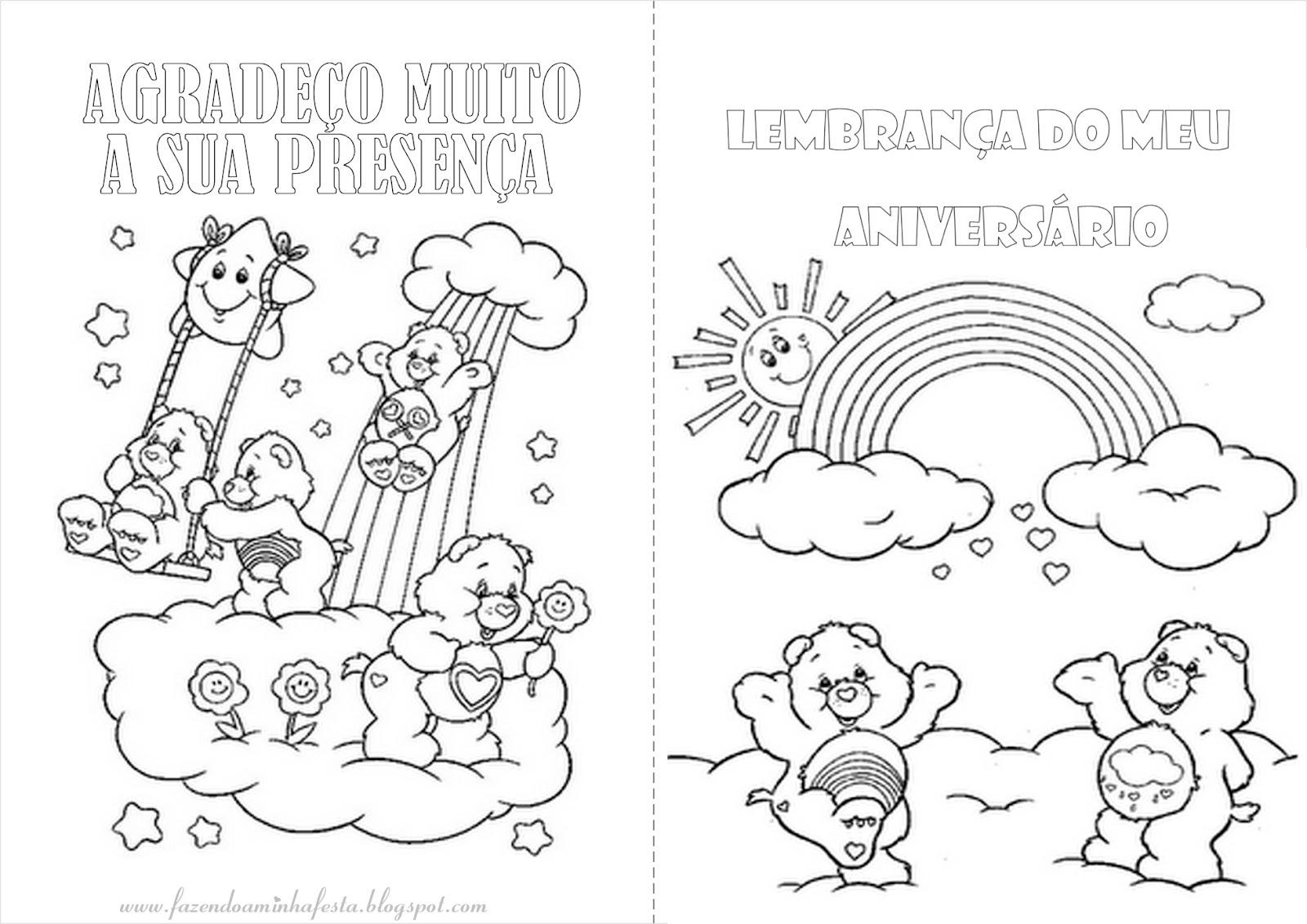 imagens para colorir dos ursinhos carinhosos - Ursinhos carinhosos Jogos de Colorir e Pintar