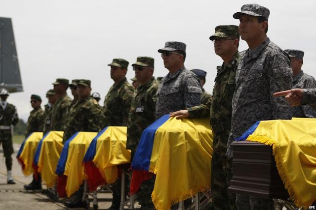 Según el director del Instituto Nacional de Medicina Legal, Carlos Eduardo Valdés, en lo que va corrido del año han sido asesinados de manera violenta 110 miembros de las Fuerzas Militares y la Policía.