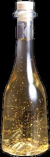 botella vino con oro stimulsorprende