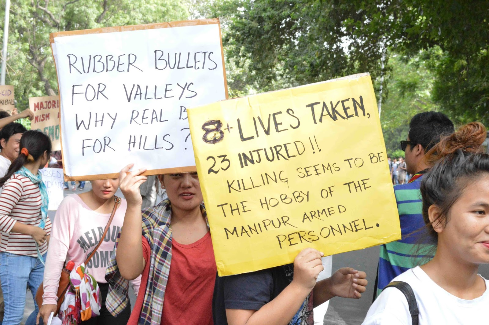 Manipur Assembly ah bill thum pass deih louh latsak na in Delhi ah protest rally neih in om