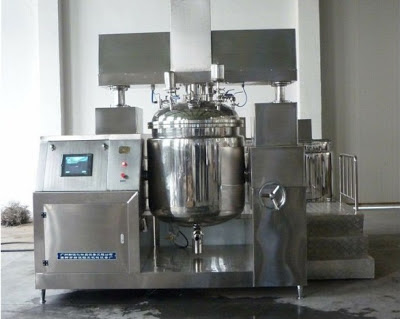 vacuum emulsifying equipment with top Homogenizer