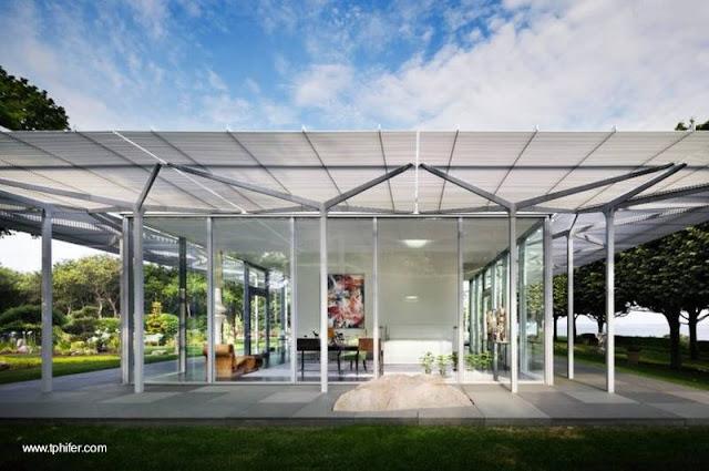 Casa de vidrio Minimalista en Nueva York