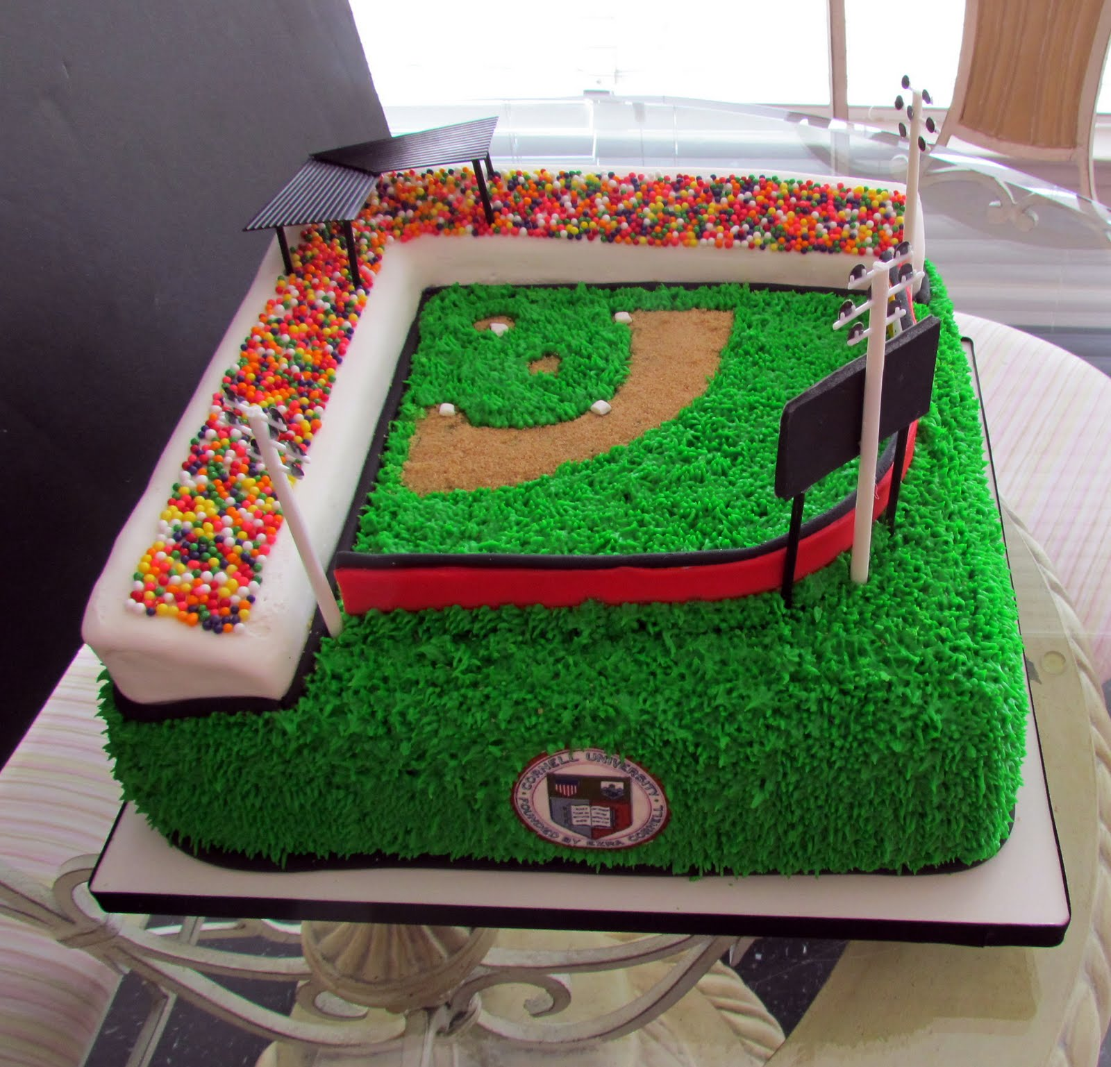 Alamo Sweets Llc Baseball Field Birthday Cake