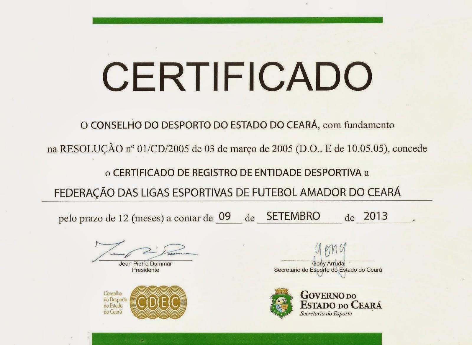 CERTIFICADO017/ 2013