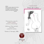 """Presentación de la novela """"Pata de Cabra"""" de Carmen Nani"""