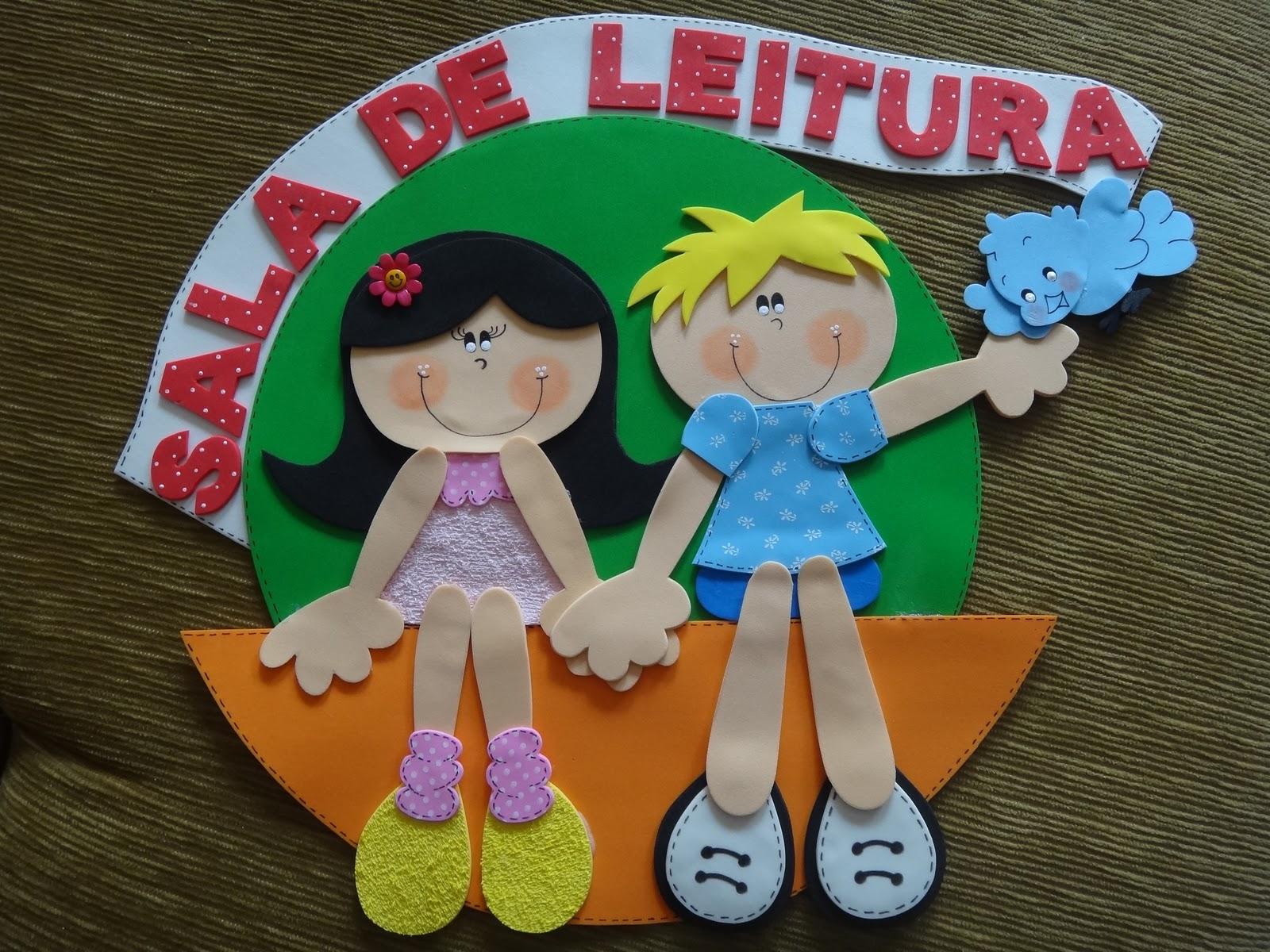 decoracao sala de leitura na escola:Carine'arte com amor: Decoração para sala de leitura