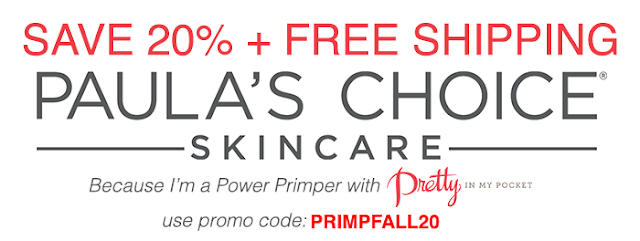paulas choice skin care love krista power primper primp discount coupon code