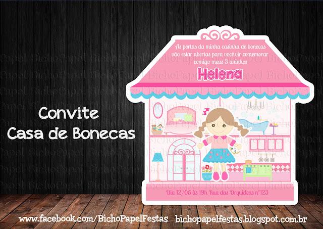 Convite Casa de Bonecas