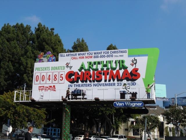 Arthur Christmas PR stunt bilboard