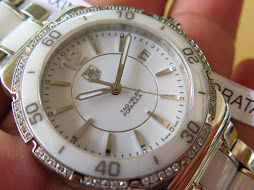 TAG HEUER FORMULA 1 WHITE CERAMIC BEZEL AND BRACELET - DIAMOND BEZEL - LADY WATCH