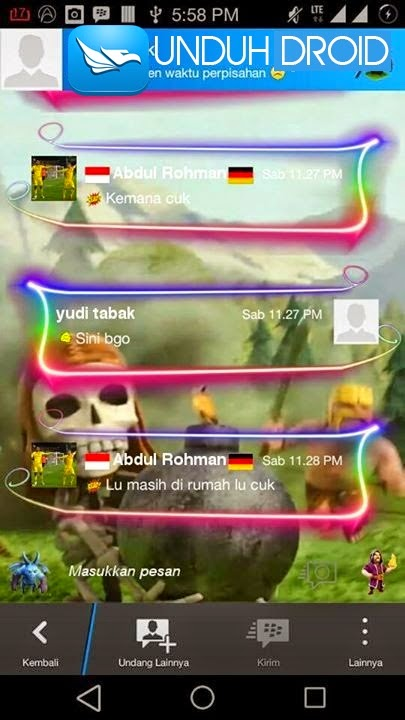 BBM Mod Tema Clash of Clans Terbaru Apk