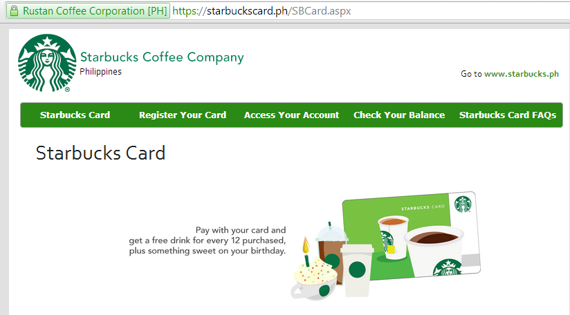 Freebies With Starbucks Card Philippines Times Of Refreshing