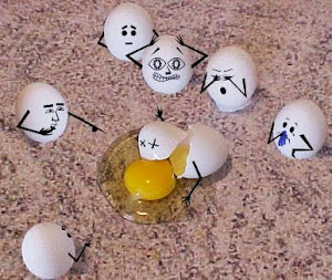 Not my actual broken eggs..