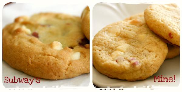 Subway white chocolate cookie recipe