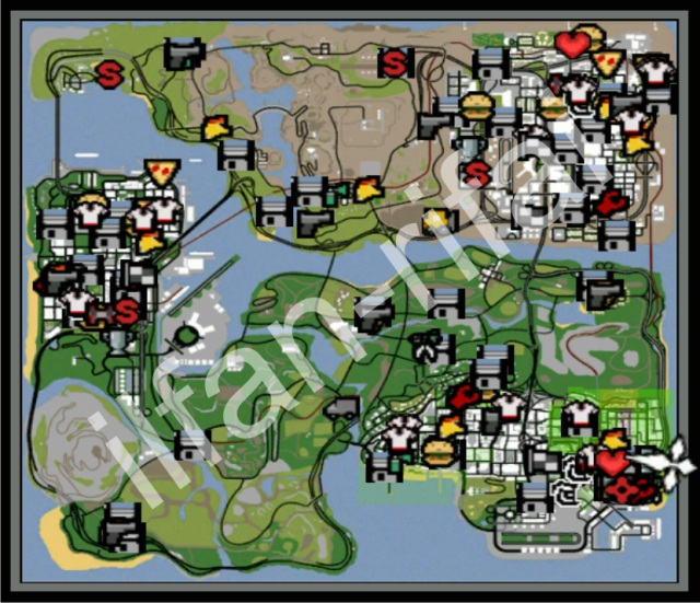 Grand Theft Auto San Andreas - 100 save file - Free Download