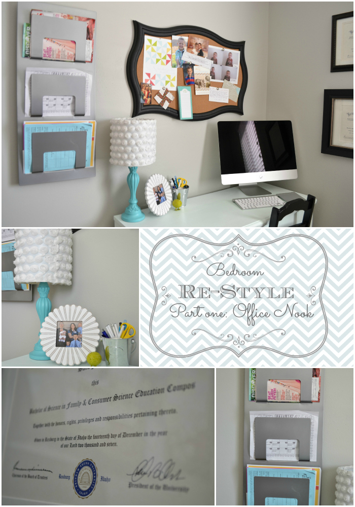Bedroom Restyle Part One Office Nook