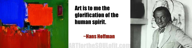 quote by hans hoffman - art is to me the glorification of the human spirit