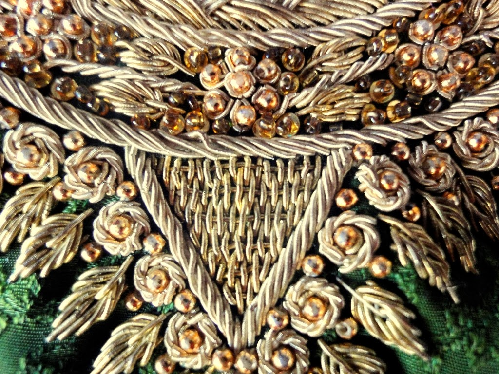 Local style zardozi the ancient art of metal embroidery