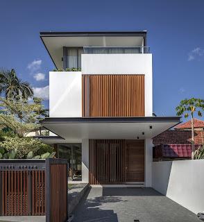 Rumah Minimalis Dengan Fasad Kisi-Kisi