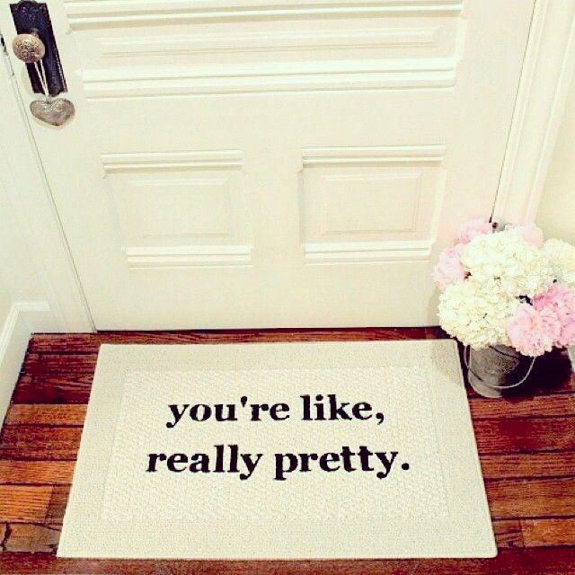 you're like really pretty doormat, etsy homeware, mean girls doormat